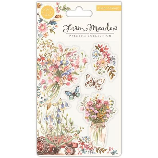 Farm Meadow A6 Clear Stamp Set - Florals