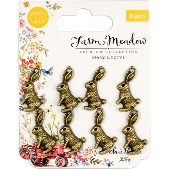 Craft Consortium Farm Meadow - Metal Rabbit Charms