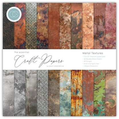 "Craft Consortium Essential Craft Paper - 12"" x 12"" Metal Textures"