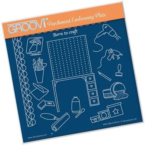 Crafting - Hobbies A5 Square Groovi Plate