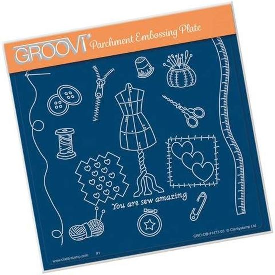 Haberdashery - Hobbies A5 Square Groovi Plate