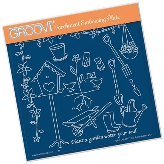 Gardening - Hobbies A5 Square Groovi Plate