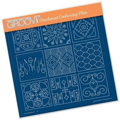 Embroidery Sampler Groovi A4 Square Plate