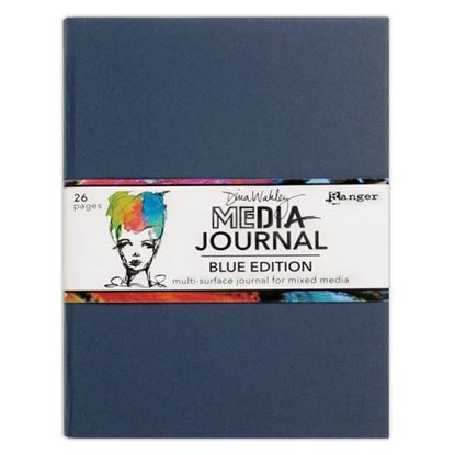 "Dina Wakley Media Journal 7.75"" x 10.25"" Blue"
