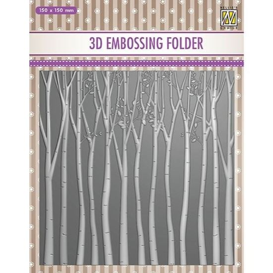 Nellie Snellen 3D Embossing Folder - Trees