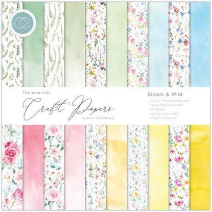 "Essential Craft Paper - 12"" x 12"" Bloom & Wild"