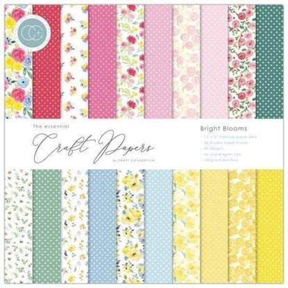 "Craft Consortium Essential Craft Paper - 12"" x 12"" Bright Blooms"