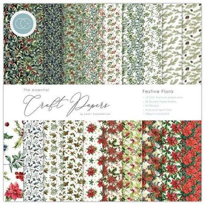 "Essential Craft Paper - 12"" x 12"" Festive Flora"