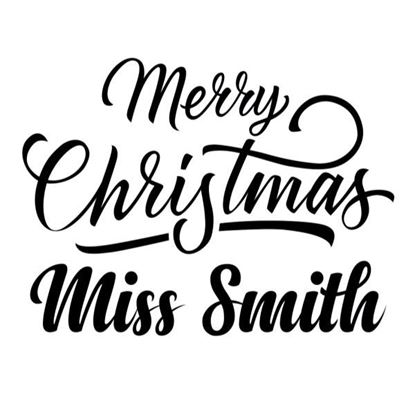 Christmas Teacher Personalised s/a Vinyl - Pack 2