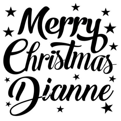 Merry Christmas Personalised s/a Vinyl