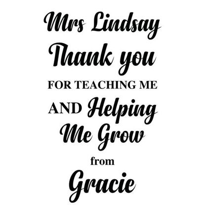 Personalised Teacher Helping me Grow S/a Vinyl