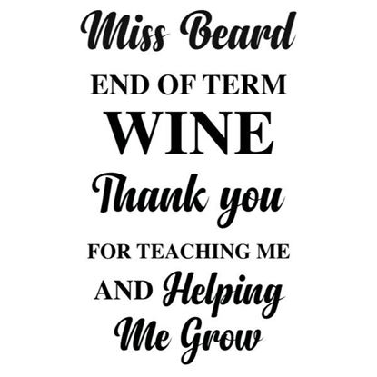 Personalised End of Year Wine S/a Vinyl