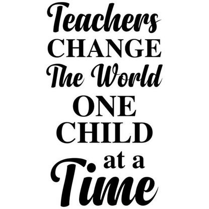 Teachers Change the World S/a Vinyl