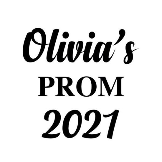 Personalised Prom s/a Vinyl