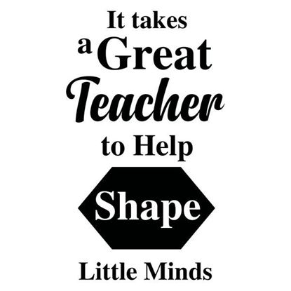 Teacher Shape Minds S/a Vinyl