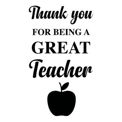 Thank you Great Teacher S/a Vinyl