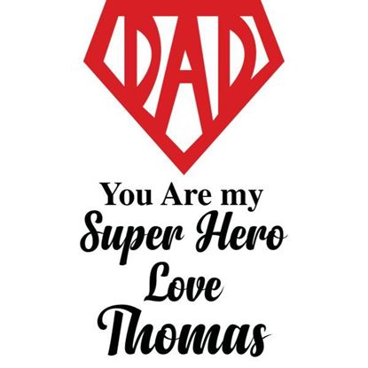 Personalised Super Hero Dad s/a Vinyl