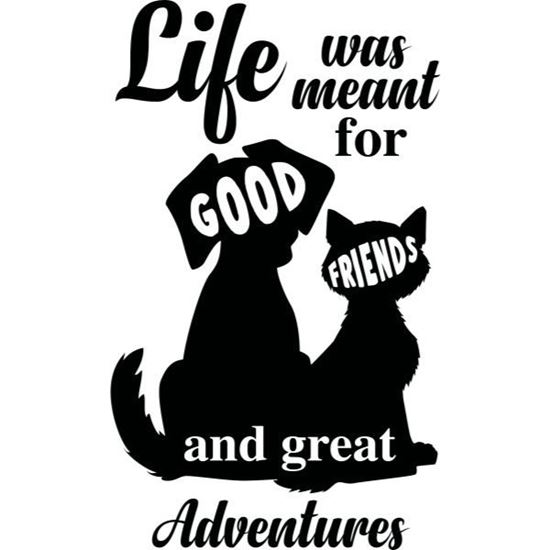 Cat, Dog Life Adventures s/a Vinyl