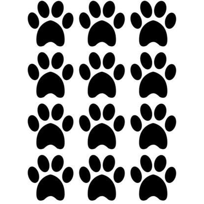 Paw Prints Large s/a Vinyl