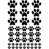 Paw Prints Assorted Sizes s/a Vinyl