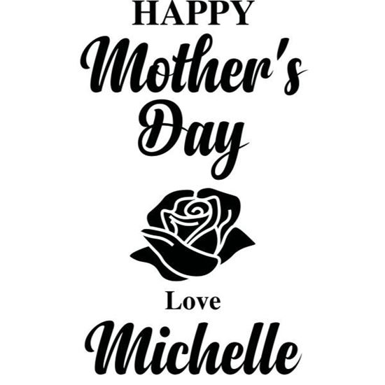Personalised Mothers Day Rose s/a Vinyl