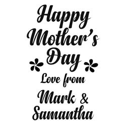 Personalised Happy Mothers Day s/a Vinyl