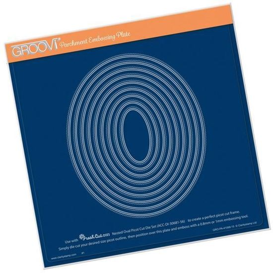 Nested Oval Picot Cut Groovi A4 Square