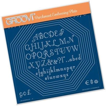 Octagon Extension & Art Deco Alphabet Groovi A4 Square Plate