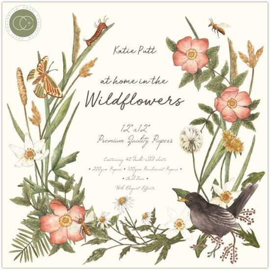 """Craft Consortium Pad 12 x 12"""" - At home in the Wildflowers"""