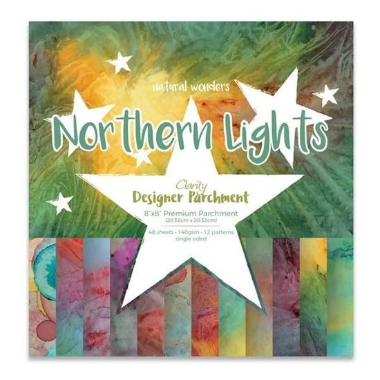"""8"""" x 8"""" Northern Lights Parchment"""