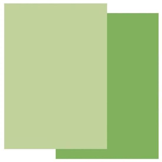 Groovi A4 Parchment Two Tone Meadow Green/Willow Green