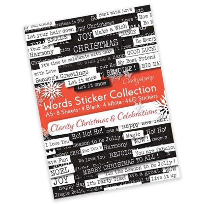 Clarity Christmas & Celebration Word Stickers